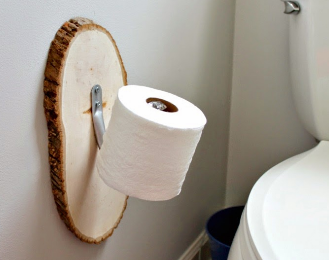 Drapery Holdback Toilet Paper Holder