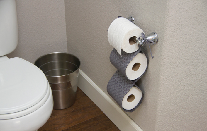15 diy toilet paper holder ideas shop toilet. Black Bedroom Furniture Sets. Home Design Ideas