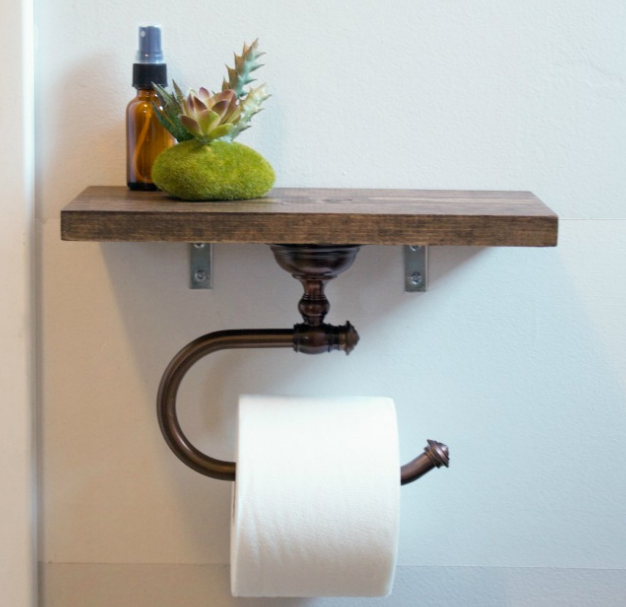 Toiler Paper Holder with Shelf
