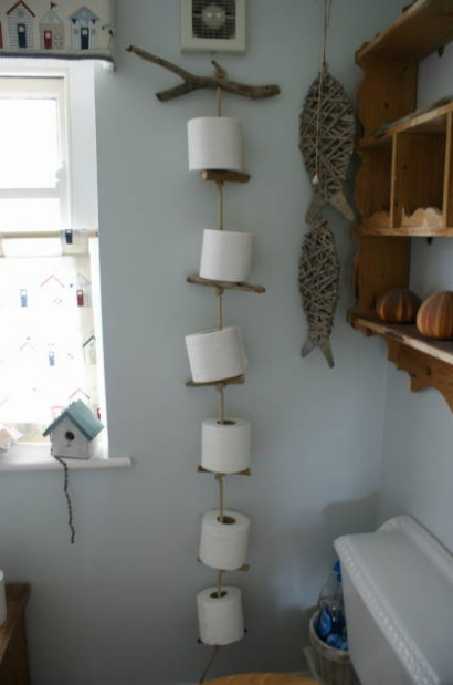 Toiler Roll Holder made from Drift Wood