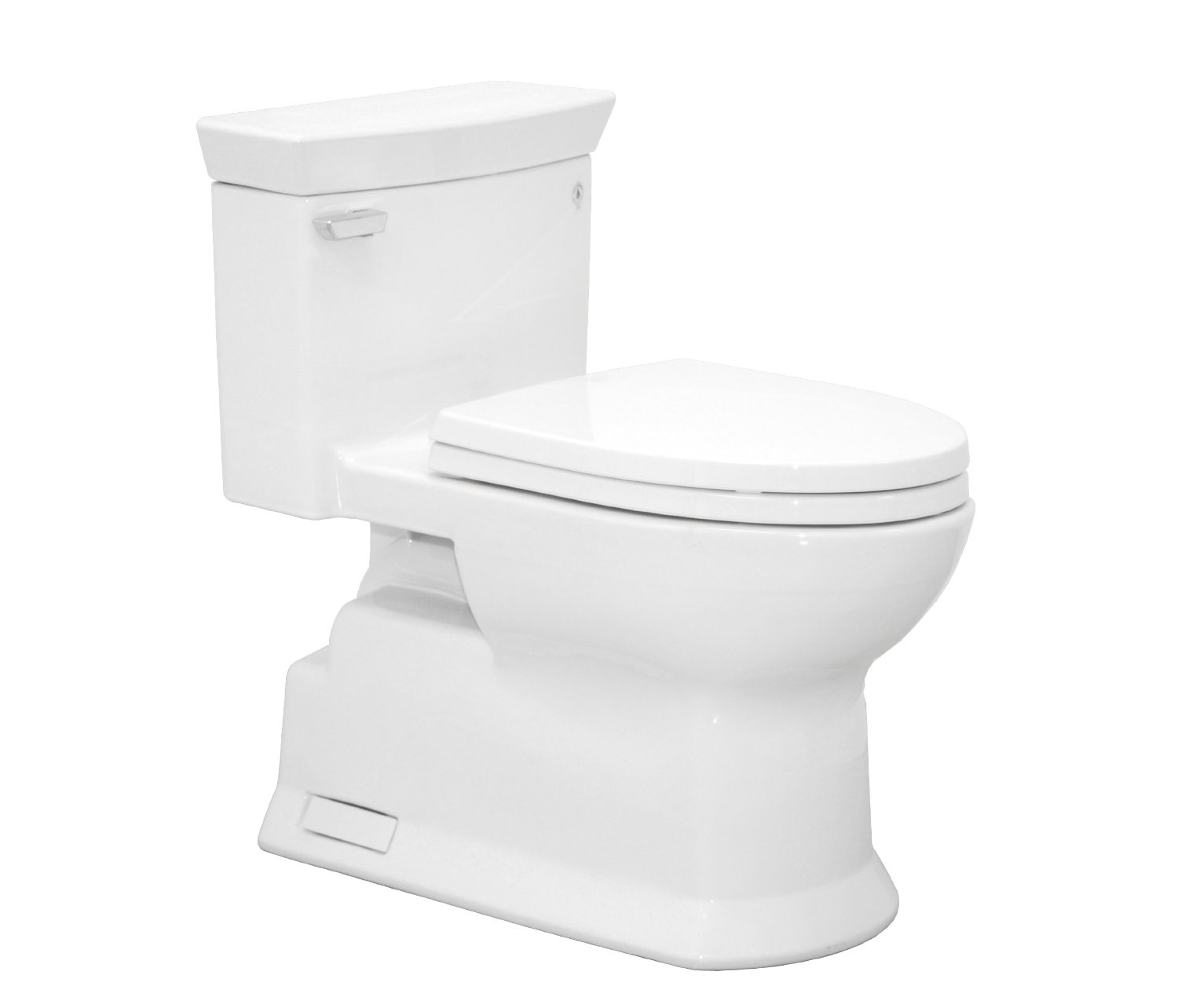 TOTO MS964214CEFG#01 Eco Soiree Elongated One Piece Toilet with Chrome Plated Sanagloss, Cotton White