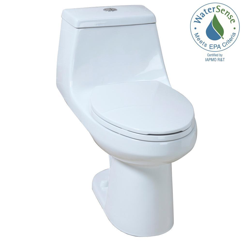 Glacier Bay 1-piece High-Efficiency Dual Flush Toilet
