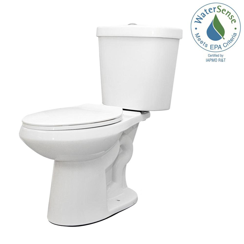 Glacier Bay 2-piece High-Efficiency Dual Flush Toilet
