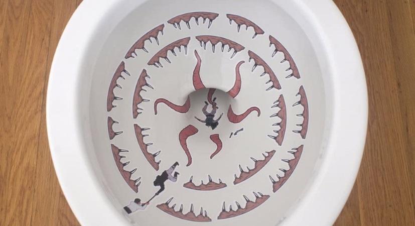 A toilet sarlacc pit