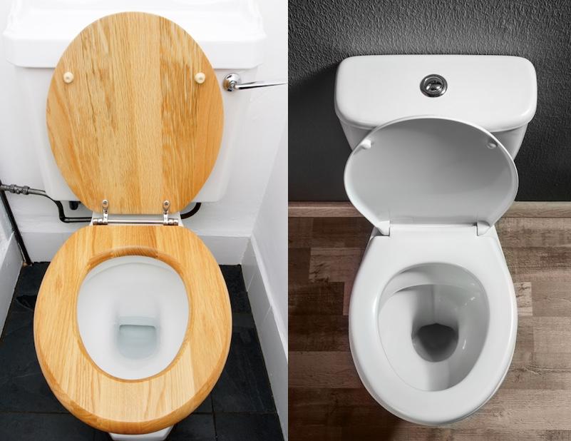 wooden vs plastic toilet seat
