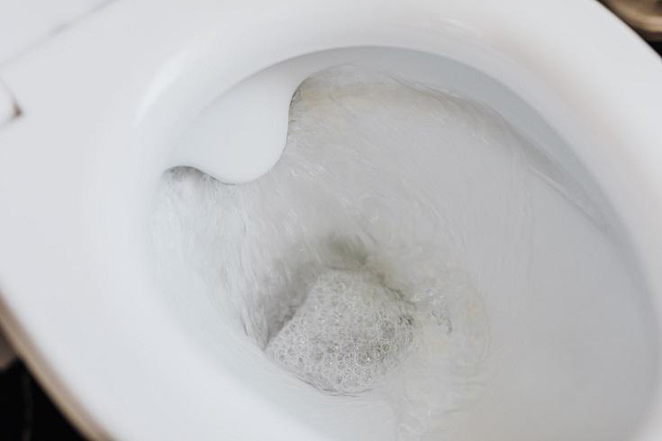 Flushing water