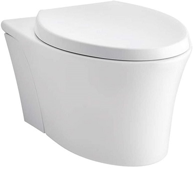 KOHLER K-6299-0 Veil Wall-Hung Elongated Toilet Bowl