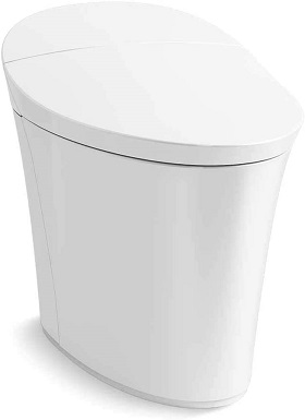 Kohler K-5401-PA-0 Veil Comfort Height Skirted One-Piece Elongated Dual-Flush Intelligent toilet