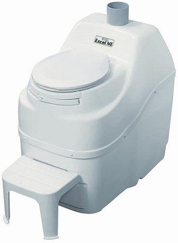 Sun-Mar Excel Non-Electric Self-Contained Composting Toilet, Model# Excel-NE