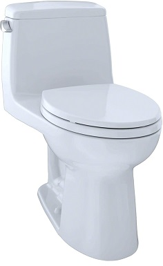 TOTO MS854114ELG#01 Eco Ultramax ADA Elongated One-Piece Toilet with Sanagloss