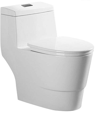 WOODBRIDGE T-0019 Dual Flush Elongated Toilet