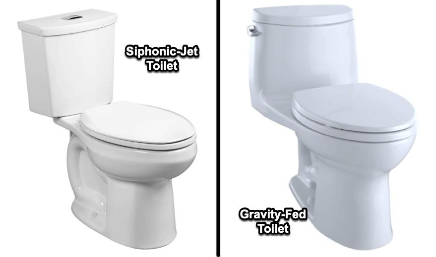 siphonic jet vs gravity fed