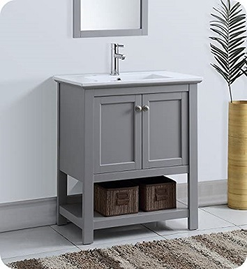 4Fresca Manchester 30 Gray Traditional Bathroom Vanity