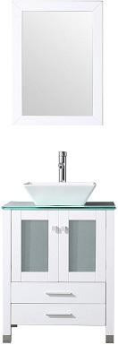 "5BATHJOY 24"" White Bathroom Wood Vanity"