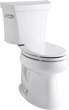 Kohler K-3999-0 Highline Comfort Height Two-piece Elongated 1.28